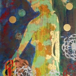 Odaát, Otthon & lakás, Dekoráció, Kép, Festészet, Saját készítésű egyedi akril festmény. Látomás és fantázia modern szürrealizmussal vegyítve. 50x30 ..., Meska