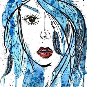Szárnyak , Művészet, Festmény, Akvarell, Festészet, A/4-es, ( 20 x 30 cm ) 150-es  Canson akvarell lap, akvarell-filc.\n\nCímkék: festmény, akvarell, hang..., Meska