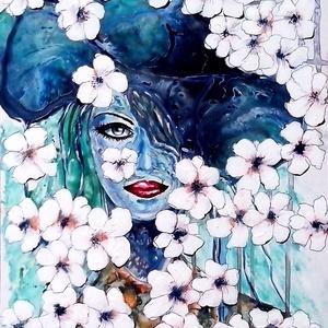 Szia, Tavasz ! , Akril, Festmény, Művészet, Festészet, 40 x 50 cm-es felületkezelt faroston , akril festés, ecset és festőkés segítségével :) \n\nCímkék: fes..., Meska
