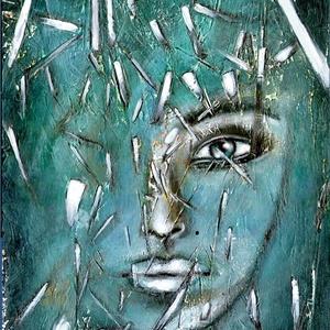 Szilánkok , Képzőművészet, Otthon & lakás, Festmény, Akril, Illusztráció, Festészet, 19 x 34 cm-es OSB lapon, alapozást követően  akril festés, festőkés és ecset segítségével :) \n\nIgyek..., Meska