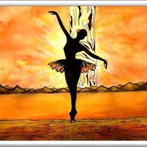 A világ szélén táncolva... , Képzőművészet, Otthon & lakás, Festmény, Akvarell, Festészet, 40 x 30 cm-es, 300-as Canson akvarell lapon , akvarell-akril-tus festés.\n\nReferencia a korábban ideh..., Meska