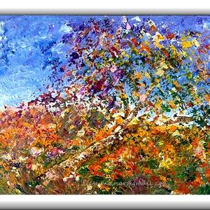 Május-fa, Képzőművészet, Otthon & lakás, Festmény, Akril, Festészet, 60 x 40 cm-es bútorlapon( 1,8 cm vastag ),  Gesso alap, akril festék, festőkés technika.\n\nEgyedi ötl..., Meska