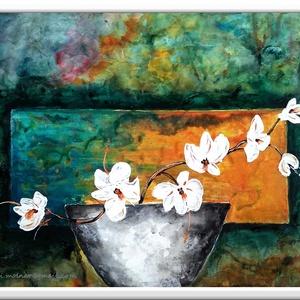 Virág a világban - Nyári akció :  2019. július 1-től minden festésem 20 % -os kedvezménnyel lehet a Tiéd ! , Képzőművészet, Otthon & lakás, Festmény, Akril, Festészet, 40 x 30 cm-es festőkartonon gesso alap, akril festés, ecsetekkel és festőkéssel , vízbázisú lakkal f..., Meska