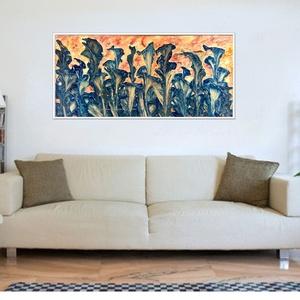 Fodros leveles -  20 % árkedvezmény 2019.július 1-től, Képzőművészet, Otthon & lakás, Festmény, Akril, Festészet, 69 x 33 cm-es faroston Gesso alap és akril festés.\n\nDesign festés, színek, formák :) \n\nCímkék: festm..., Meska