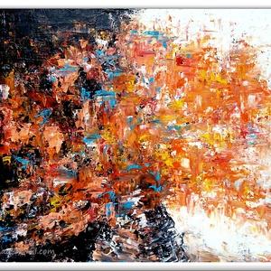 Örök körforgás , Képzőművészet, Otthon & lakás, Festmény, Akril, Festészet, 60 x 40 cm-es faroston akril festés, festőkéssel, lakk fedőréteggel ellátott.\n\nHangulatkép, igyekezt..., Meska