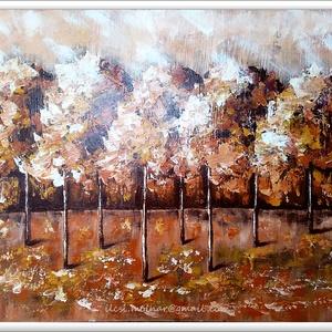 Ősz, fényben, Képzőművészet, Otthon & lakás, Festmény, Akril, Festészet, 55 x 42 cm-es felületkezelt faroston akril festés, festőkéssel, aprócskát ecsettel.\n\nEgyedi, kézi  f..., Meska