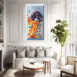Őszi szélben vidáman , Otthon & lakás, Képzőművészet, Festmény, Akril,   Vidámkodjunk kicsit, színesen :),  szép hangulata lesz a faladnak, ha őt választod ! :)   Ez a fes..., Meska