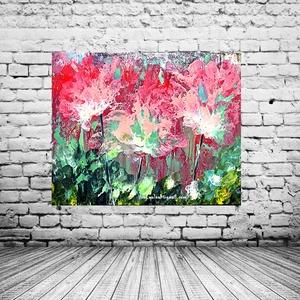 Ragyogó réten , Akril, Festmény, Művészet, Festészet, 50 x 40 cm-es Munkácsy feszített vászonra készült akril festésem.\nSaját ötlet és eredeti ,kézi festé..., Meska