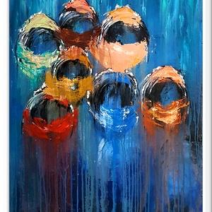 FejenEk, Otthon & lakás, Képzőművészet, Festmény, Akril, Kissé szokatlan munkám, mármint tőlem :) , de imádtam :)   Szürreális, impresszív, sok sok akril fes..., Meska