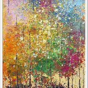 Színes erdős, Művészet, Festmény, Olajfestmény, Festészet, Színek és hangulat egy egyedi, kézzel festett hangulat :) \n\n30 x 40 cm-es, Fabriano 300 g/m2  akvare..., Meska