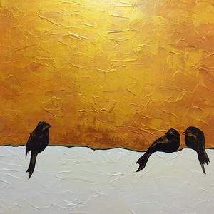 Befogadás, Művészet, Festmény, Akril, Festészet, Színek, érzések, hangulat, egyszerű formák, letisztultság.\n\nEz a festésem ilyen , éppen ennyi, nem t..., Meska