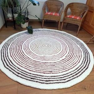 horgolt szőnyeg Rag Rug rongyszőnyeg - otthon & lakás - lakástextil - szőnyeg - Meska.hu