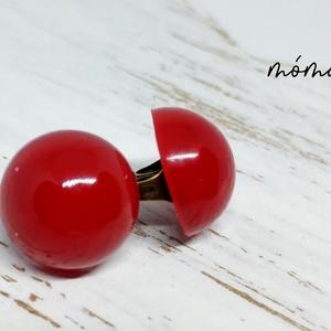 Piros félgömb műgyanta fülbevaló, Ékszer, Fülbevaló, Ékszerkészítés, Piros színével feltűnő, kis mérete miatt ugyanakkor nem kirívó, félgömb alakú műgyanta fülbevaló. Gy..., Meska