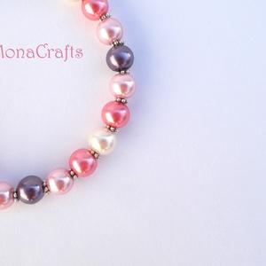 Light Roses - rózsaszín-lila selyemfényű karperec (MonaCrafts) - Meska.hu