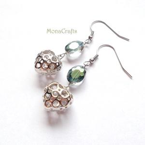 Charlotte - különleges kristály fülbevaló (MonaCrafts) - Meska.hu