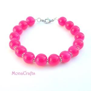 Very Berry - pink gyöngyös karperec (MonaCrafts) - Meska.hu