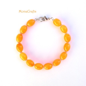 -10% Tequila Sunrise - neon-narancssárga gyöngyös karperec (MonaCrafts) - Meska.hu