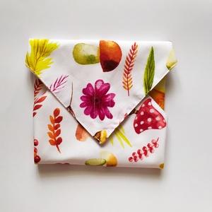"""Erdei mintás újraszalvéta, szendvics csomagoló, Táska & Tok, Uzsonna- & Ebéd tartó, Szendvics csomagoló, Ez az újraszalvéta avagy szendvics csomagolás segít kiváltani a """"hagyományos"""", eldobható csomagoló a..., Meska"""