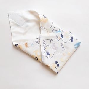 Újraszalvéta, szendvics csomagoló, textil szalvéta, rajzolt kutyusos - ovi- és sulikezdés - uzsonna- & ebéd tartó - szendvics csomagoló - Meska.hu