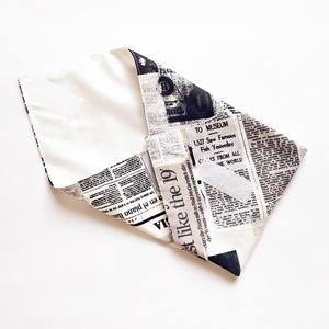 Újraszalvéta, szendvics csomagoló, textil szalvéta, újság mintás - ovi- és sulikezdés - uzsonna- & ebéd tartó - szendvics csomagoló - Meska.hu