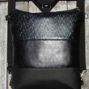 CITY BAG HÁTIZSÁK/OLDALTÁSKA : Fényesen elegáns 3., Táska & Tok, Hátizsák, Hátizsák,  Sokak kérésére mostantól végre készülnek olyan táskák is, amik oldaltáskák és hátizsákok is lehetne..., Meska