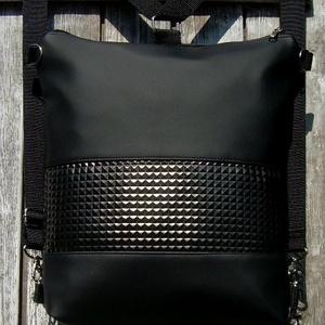 CITY BAG HÁTIZSÁK/OLDALTÁSKA : Metálos elegancia 9., Táska & Tok, Variálható táska, Sokak kérésére mostantól végre készülnek olyan táskák is, amik válltáskák, oldaltáskák és hátizsákok..., Meska