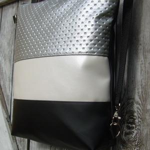 CITY BAG HÁTIZSÁK/OLDALTÁSKA : Egy kis luxus ezüsttel és gyöngyházzal - táska & tok - hátizsák - hátizsák - Meska.hu