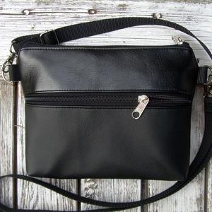 MINI CITY BAG : Elegáns fekete 1, Táska, Divat & Szépség, Táska, Válltáska, oldaltáska, Neszesszer, Varrás, \n\nKözkívánatra újra készülnek olyan kis táskáim, amiket övtáskának is hordhatunk, sőt neszinek is me..., Meska
