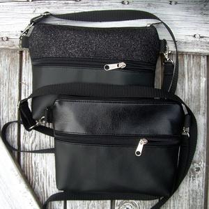 MINI CITY BAG : Elegáns fekete 1 - táska & tok - kézitáska & válltáska - vállon átvethető táska - Meska.hu