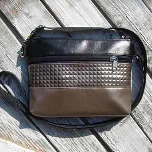 MINI CITY BAG : Metálos elegancia feketével 4., Táska & Tok, Vállon átvethető táska, Kézitáska & válltáska, Varrás, Meska