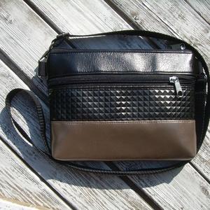 MINI CITY BAG : Metálos elegancia feketével 5., Táska & Tok, Vállon átvethető táska, Kézitáska & válltáska, Varrás, Meska
