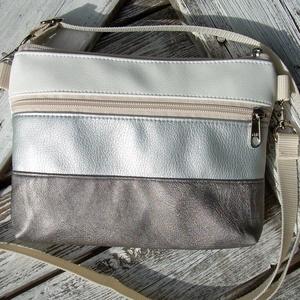 MINI CITY BAG : Nyári elegancia ezüstökkel, Táska & Tok, Vállon átvethető táska, Kézitáska & válltáska, Varrás, Meska