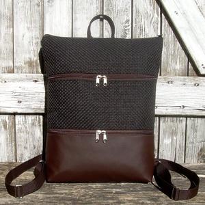 CITY BAG HÁTIZSÁK/LAPTOPTÁSKA/OLDALTÁSKA : Variációk barna bőrre és szövetre , Táska & Tok, Hátizsák, Hátizsák,   Sokak kérésére mostantól végre készülnek olyan táskák is, amik válltáskák, oldaltáskák és hátizsák..., Meska