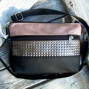 MINI CITY BAG : Metálos elegancia feketével 3., Táska & Tok, Kézitáska & válltáska, Vállon átvethető táska, Varrás, Meska