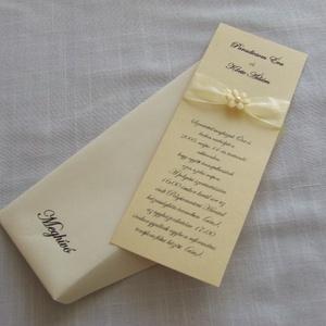 Kézműves esküvői meghívó, Esküvő, Meghívó, ültetőkártya, köszönőajándék, Papírművészet, Valóban kézműves, egyedi meghívó esküvőre. A kis nyomtatómmal készítem, a hozzá illő borítékot magam..., Meska