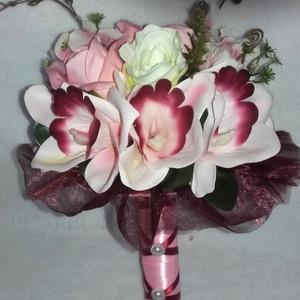 Menyasszonyicsokor rózsából és orchideából (Monik68) - Meska.hu