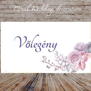 Ültetőkártya , Esküvő, Meghívó, ültetőkártya, köszönőajándék, Mindenmás, Praktikus kiegészítője egy szépen terített ünnepi asztalnak.\nVálasztható:\n1. Sátras ültetőkártya két..., Meska