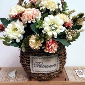 Kosaras virágcsokor, Otthon & Lakás, Dekoráció, Dísztárgy, Mindenmás, Meska