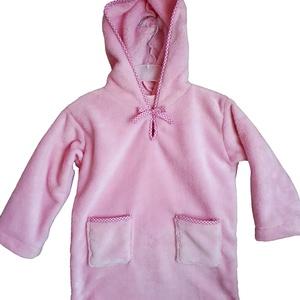 Gyerek köntös, Köntös, Szépségápolás, Varrás, Pihe-puha Wellsoft anyagból készül kapucnis kislány köntös.Kényelmes viselet. Belebújós változat ezé..., Meska