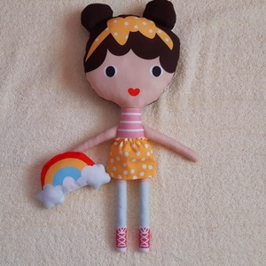 Xo textilbaba,játszóbaba, alvóbaba, Játék, Gyerek & játék, Baba, babaház, Baba játék, Varrás, Xo egy textilbaba kicsiknek,gyerekeknek amit egy kislány ajándékként magához ölelhet. Ez a szépséges..., Meska