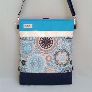 Cross-Bag 44 női táska hátizsákká alakítható, Táska, Válltáska, oldaltáska, Hátizsák, Varrás, Abszolút nyárias, igazi vízparti ragyogás ez a táska! Vakító türkiz gyöngyvászonnal és kagylóhéj sz..., Meska