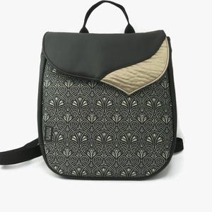 Back-pack 17 fekete-arany elegáns női hátizsák, Táska, Hátizsák, Varrás, Nagyon szép fekete hátizsákot készítettem és a fedlapját fényes arany textilbőrrel tettem még külön..., Meska