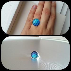 Kék rombusz gyűrű (monimousse) - Meska.hu