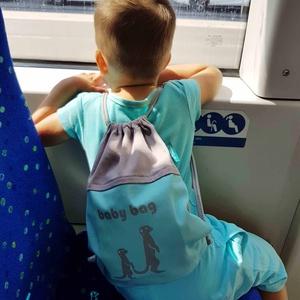 Gyerek hátizsák, Ovis hátizsák, Ovis zsák & Ovis szett, Játék & Gyerek, Varrás, Miközben készítettük a Mom bag-et, a fiaim folyamatosan jöttek, nézték, tesztelték és kérdezték miér..., Meska