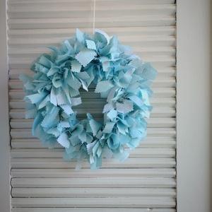Kékség kopogtató, Otthon, lakberendezés, Ajtódísz, kopogtató, Csomózás, Készítettem egy egyszerű kopogtatót, amelyet kedved szerint tovább díszíthetsz, akár húsvétra egy n..., Meska