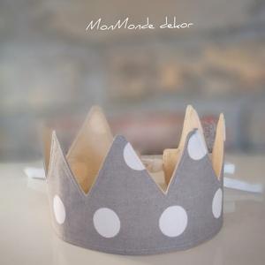 Korona , Játék & Gyerek, Szerepjáték, Varrás, Készítettem egy uniszex korona dekorációt, parti kelléket. A képen látható korona már egy eladott te..., Meska