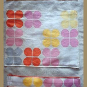 Textil zsebes tároló - nagy méretű, Baba-mama-gyerek, Gyerekszoba, Falvédő, takaró, Varrás, Praktikus, jól használható, 3 egymás alatti zsebbel, vidám színek felhasználásával készítettem ezt ..., Meska