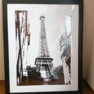 Párizs kép Eiffel toronnyal - 54 X 44 cm, Dekoráció, Otthon & lakás, Kép, Lakberendezés, Falikép, Fotó, grafika, rajz, illusztráció, Párizs-imádók kedvére!!!\nA megunhatatlan Eiffel torony képe saját fotóm alapján készült az egyik mel..., Meska