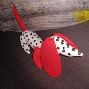 Textil tacskó kutya, Játék & Gyerek, Plüssállat & Játékfigura, Kutya, Baba-és bábkészítés, Egyedi készítésű textil tacskó kiskutya. Párnatöltettel töltve,mosógépben mosható. A képeken lévő sz..., Meska
