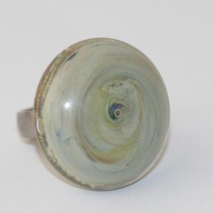 Minden napra egy gyűrű ! - ezüstkék buborékkal (MoroBarbaraGlass) - Meska.hu